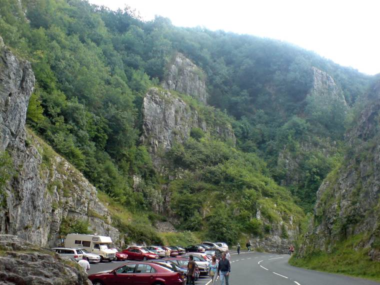Cheddar Gorge, where cheddar originates, taken when I visited in 2006