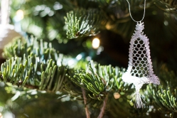 My mum makes these beautiful lace ornaments