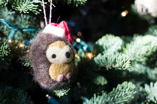 This handmade cutie fits perfectly into my woodland-themed tree