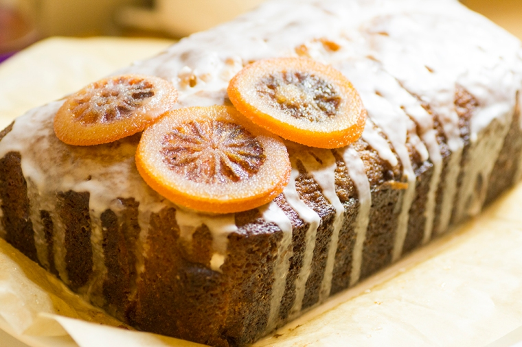 Grapefruit drizzle cake with candied blood orange slices recipe
