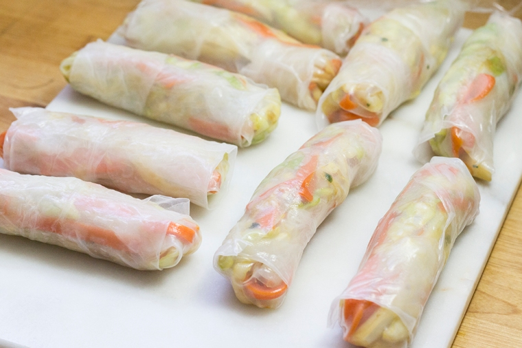 Vegetable spring rolls/fresh rolls