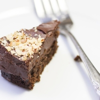 Chocolate Hazelnut Truffle Cake