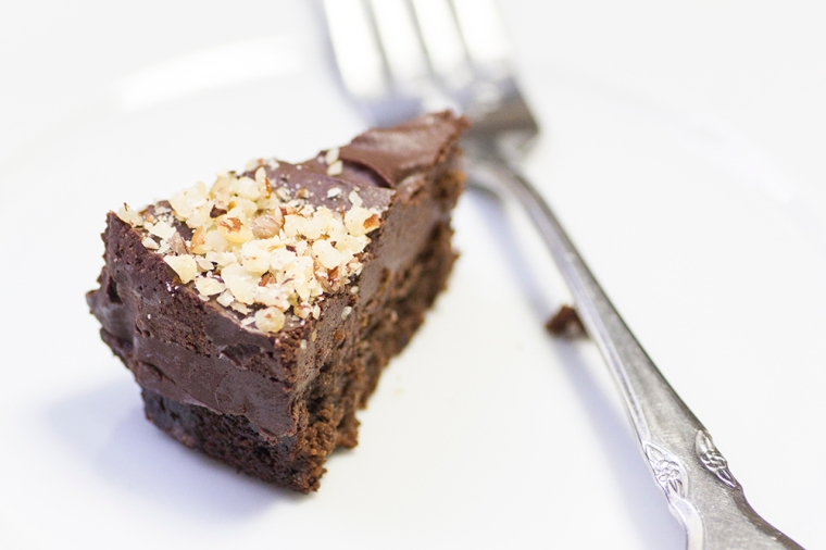 Chocolate hazelnut ganache cake gluten-free recipe