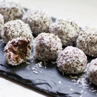 Vegan Coconut Chocolate Truffles
