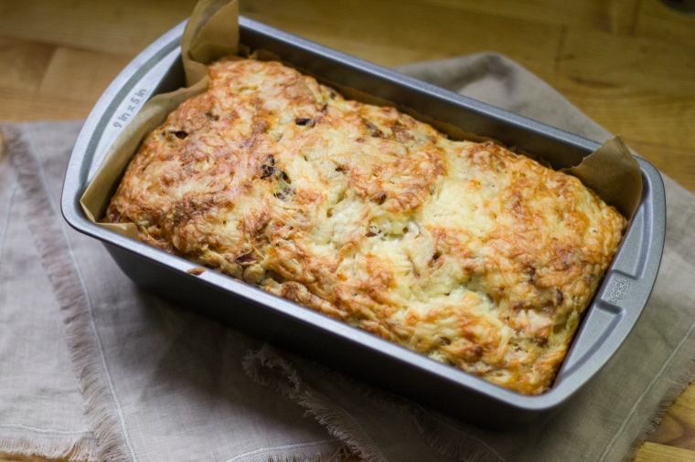 bacon cheese and onion quickbread