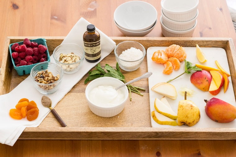 Delicious yogurt toppings for a tasty breakfast or even a yogurt bar