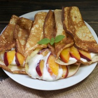Simple Nectarine Crepe for Breakfast or Dessert